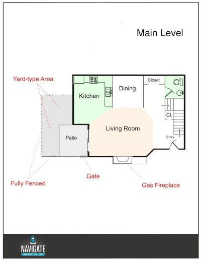 Main Level - Sage Creek Floorplan