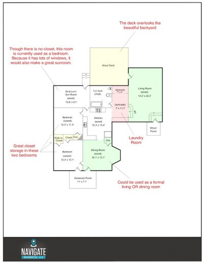 Main Level - Floorplan - 106 A St - Final
